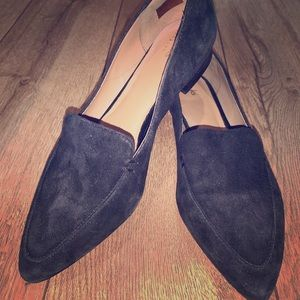 Black suede loafers. Never worn
